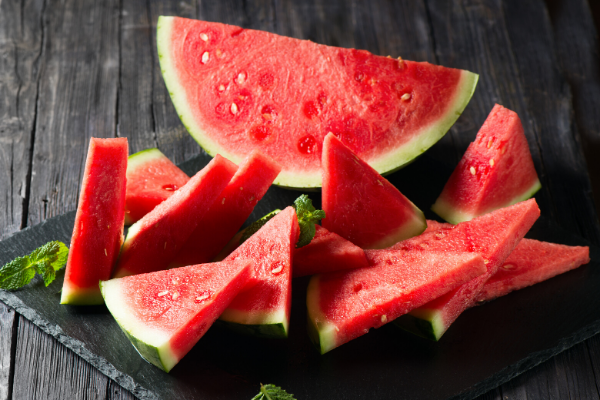 What summer fruit is almost 92% water